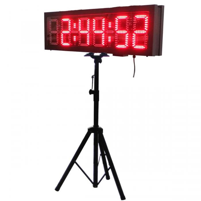 Led race timing clock double sided timer product center for 10 minute trainer door attachment