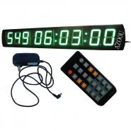 Giant Large LED Days Countdown Clock Green Color 4