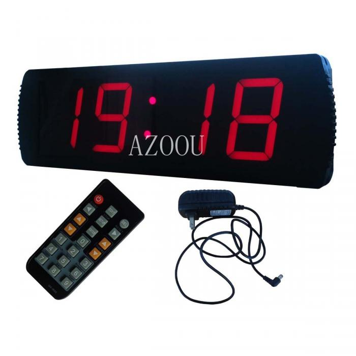 LED Red Digital Clock,Race Timing Running Marathon Timer ...