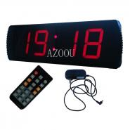 Large 4-Inch 4-Digit LED Red Digital Clock Race Timing Running Marathon Timer with Count Down/Up Timer